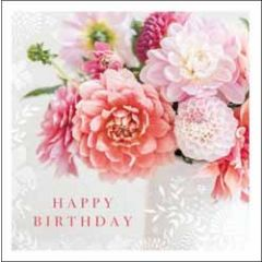 verjaardagskaart woodmansterne - happy birthday - bloemen