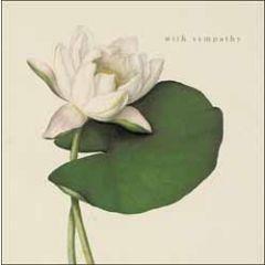 condoleancekaart woodmansterne - with sympathy - waterlelie