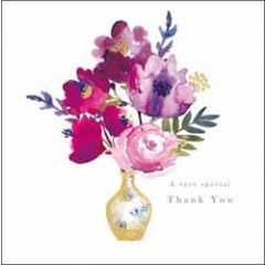 wenskaart woodmansterne - a very special thank you - bloemen