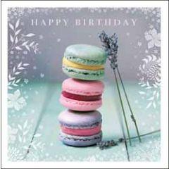 verjaardagskaart woodmansterne esprit - happy birthday - macarons