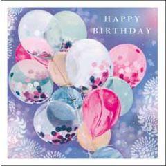 verjaardagskaart woodmansterne esprit - happy birthday - ballonnen