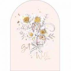 wenskaart - woodmansterne - get well soon - bloemen
