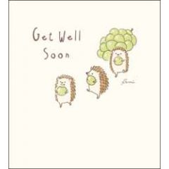 wenskaart - woodmansterne - get well soon - egel