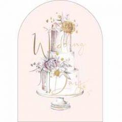 trouwkaart woodmansterne - wedding day - cake