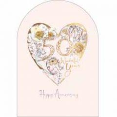 50 jaar getrouwd - trouwkaart woodmansterne - happy anniversary