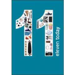 11 jaar - verjaardagskaart woodmansterne - eleven today - popcorn, skateboard