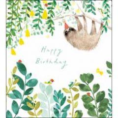 verjaardagskaart woodmansterne - happy birthday - luiaard