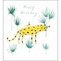verjaardagskaart woodmansterne - happy birthday - luipaard