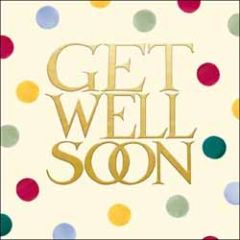 wenskaart woodmansterne - get well soon - stippen