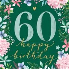 60 jaar - verjaardagskaart woodmansterne - happy 60th birthday