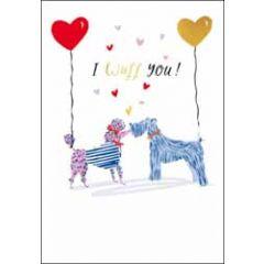 valentijnskaart woodmansterne - i wuff you