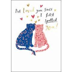 valentijnskaart woodmansterne - i've loved you since i first spotted you