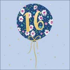 16 jaar - verjaardagskaart woodmansterne - ballon