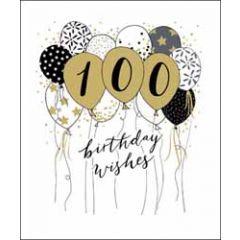 100 jaar - verjaardagskaart woodmansterne - birthday wishes - ballonnen