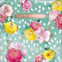 verjaardagskaart - happy birthday - bloemen