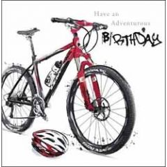 verjaardagskaart just josh - have an adventurous birthday - fiets