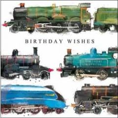 verjaardagskaart just josh - birthday wishes - locomotief trein