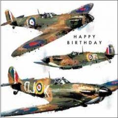 verjaardagskaart just josh - happy birthday - vliegtuigen