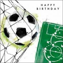 verjaardagskaart just josh - happy birthday - voetbal
