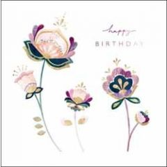 verjaardagskaart elixir - happy birthday - bloemen