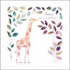 verjaardagskaart elixir - happy birthday - giraffe