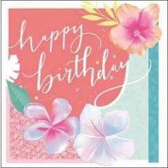 verjaardagskaart woodmansterne rumba - happy birthday - bloemen