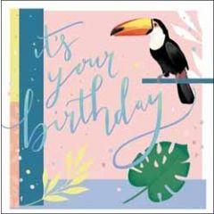 verjaardagskaart woodmansterne rumba - it s your birthday - toekan