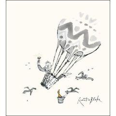 wenskaartje quentin blake - man in luchtballon