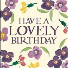 verjaardagskaart emma bridgewater - have a lovely birthday - bloemen