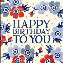 verjaardagskaart emma bridgewater - happy birthday to you - bloemen