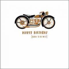 verjaardagskaart woodmansterne alpha - happy birthday born to be wild - motor