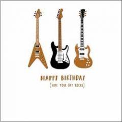verjaardagskaart woodmansterne alpha - happy birthday hope your day rocks - gitaren