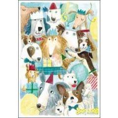 verjaardagskaart woodmansterne - honden