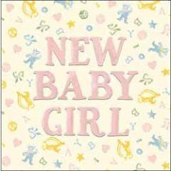 geboortekaart emma bridgewater - new baby girl