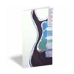 wenskaart - cadeau envelop - gitaar