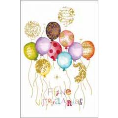 luxe wenskaart - fijne verjaardag - ballonnen