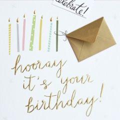 grote verjaardagskaart caroline gardner - met extra kaartje - hooray it s your birthday!