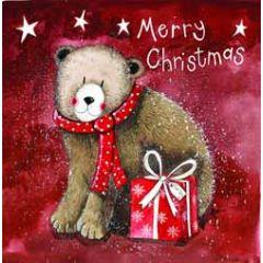 5 kerstkaarten alex clark - merry christmas - beer