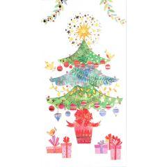 cadeau-envelop kerst busquets - kerstboom met cadeautjes