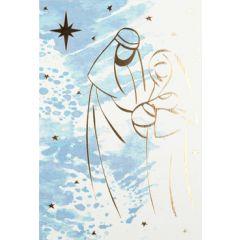 6  luxe christelijke kerstkaarten busquets - Maria, Jozef & baby Jezus