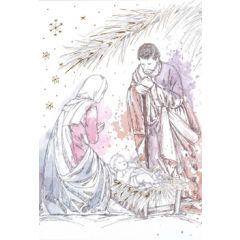 6  luxe christelijke kerstkaarten busquets - kerststal