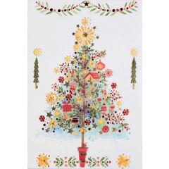6  luxe kerstkaarten busquets - kerstboom