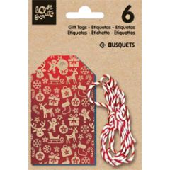 6 kerst gift tags - cadeaulabels