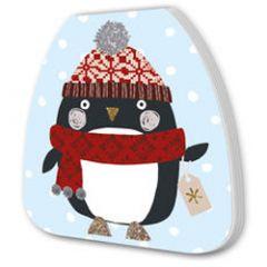 kerst notitieboekje - pinguin