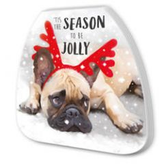 kerst notitieboekje - tis the season to be jolly - bulldog