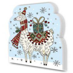 kerst notitieboekje - lama