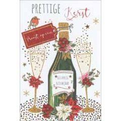 10 luxe kerstkaarten - prettige kerst proost op een gelukkig nieuwjaar - champagne