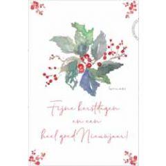 kerstansichtkaart - fijne kerstdagen heel goed nieuwjaar!