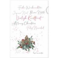 kerstansichtkaart - frohe weihnachten vrolijk kerstfeest merry christmas