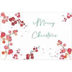 kerstansichtkaart - merry christmas - besjes